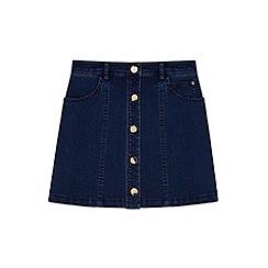 Yumi Girl - blue Buttoned Denim Mini Skirt