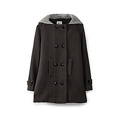 Yumi Girl - Brown duffle coat with hood