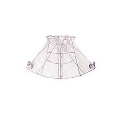 Yumi Girl - Girls' purple transparent cape mac jacket