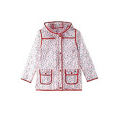 Yumi Girl - Girls' red see-through raindrop mac