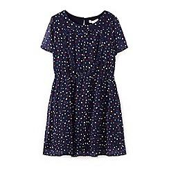 Yumi Girl - Blue frill heart pattern dress