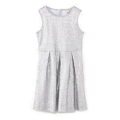 Yumi Girl - Silver sparkly sequin dress