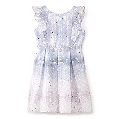 Yumi Girl - Light grey frill glitter prom dress