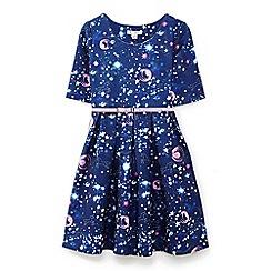 Yumi Girl - Blue galaxy skater dress