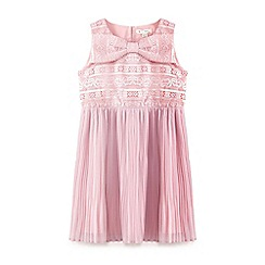 Yumi Girl - Pale pink floral lace dress