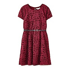 Yumi Girl - Red floral lace dress