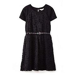 Yumi Girl - Black floral lace dress
