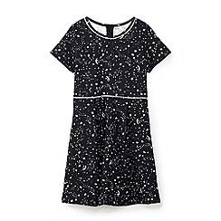 Yumi Girl - Black galaxy stardust skater dress