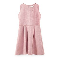 Yumi Girl - Pale pink flower suedette party dress