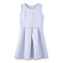 Yumi Girl - Light blue flower suedette party dress