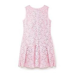 Yumi Girl - Pink jewelled lace dress