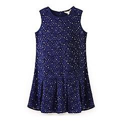 Yumi Girl - Blue jewelled lace dress