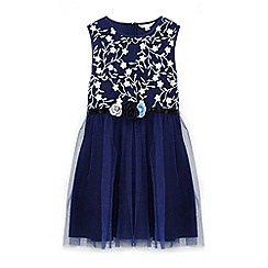 Yumi Girl - Girls' navy tulle prom dress