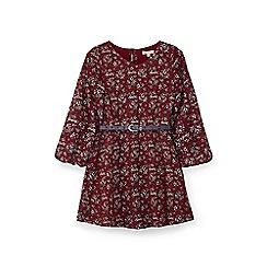 Yumi Girl - Red ditsy print dress