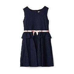 Yumi Girl - Girls' navy lace 'Abilene' peplum dress