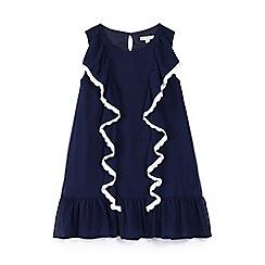 Yumi Girl - Girls' navy chiffon 'Acadia' shift dress