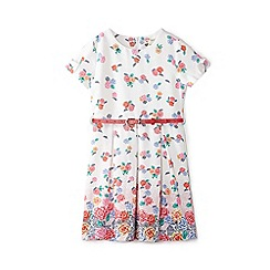 Yumi Girl - Girls' white floral print 'Adrienne' skater dress