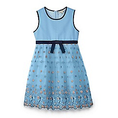 Yumi Girl - Girls' blue mesh embroidered 'Aerolynn' prom dress