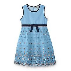 Yumi Girl - Girls' blue mesh embroidered 'Aerolynn' prom dress