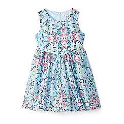 Yumi Girl - Girls' pale blue lace 'Aerolynn' skater dress