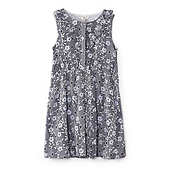 Yumi Girl - Navy flower and dot print dress