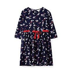 Yumi Girl - Girls' navy seagulls and sunglasses jersey 'Analie'dress