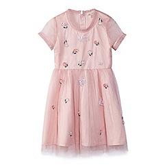 Yumi Girl - Girl pink floral embellished 'Azure' skater dress