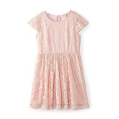 Yumi Girl - Girl pink floral lace 'Babette' skater dress