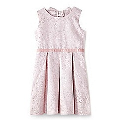 Yumi Girl - Girls' pale pink floral jacquard 'Nylah' prom dress