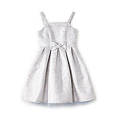Yumi Girl - Girl blue floral jacquard 'Bambi' party dress