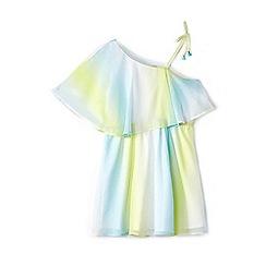 Yumi Girl - Girl light blue ombre frill sundress