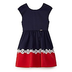 Yumi Girl - Girls' navy floral eyelet 'Simona' prom dress