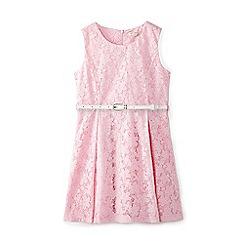 Yumi Girl - Girl pink floral 'Benedicta' mini skater dress