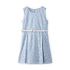 Yumi Girl - Girl blue floral 'Benedicta' sleeveless skater dress