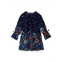 Yumi Girl - Girls' navy botanical 'Benita' tunic dress