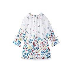 Yumi Girl - Girls' white botanical 'Benita' tunic dress