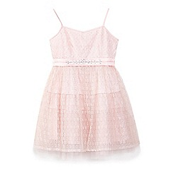 Yumi Girl - Girls' light pink lace 'Marion' party dress