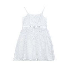 Yumi Girl - Girls' white lace 'Marion' party dress