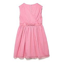 Yumi Girl - Girls' pink chiffon 'Olivia-grace' skater dress