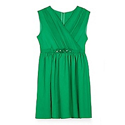 Yumi Girl - Girls' green chiffon 'Olivia-grace' skater dress