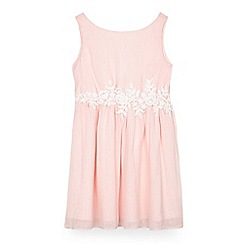 Yumi Girl - Girls' light pink chiffon 'Rumaisa' skater dress