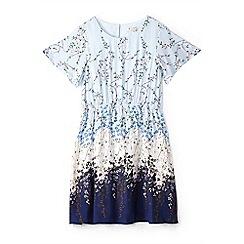 Yumi Girl - Girl light blue floral ombre dress