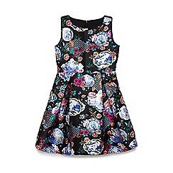 Yumi Girl - Girls' black china collage occasion dress