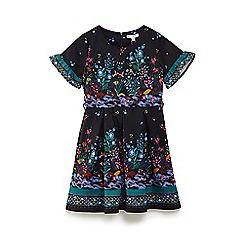 Yumi Girl - Black persian scene 'Bralee' skater dress
