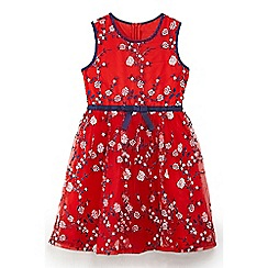 Yumi Girl - Girls' red bauhaus floral prom dress