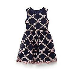 Yumi Girl - Girls' navy midnight rose prom dress