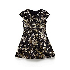 Yumi Girl - Girls' black autumn bloom prom dress