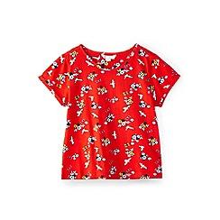Yumi Girl - Girl red seagulls and sunglasses printed t-shirt