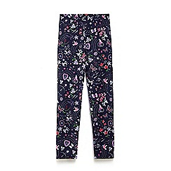 Yumi Girl - Navy mystical botanical leggings