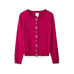 Yumi Girl - Pink embellished placket cardigan